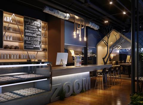 国外案例:澳洲THE ZOOM网咖设计效果图