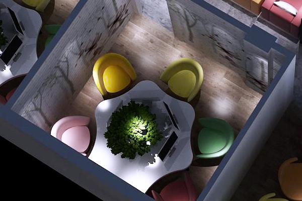 网咖桌椅五人黑房桌独家设计全新体验,2.5cm防火板