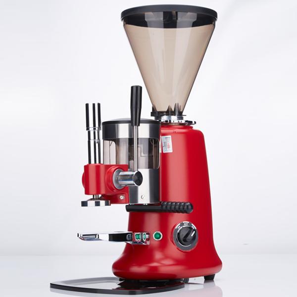 网咖水吧带定量压粉器意式磨豆机,意大利进口不锈钢磨盘和马达