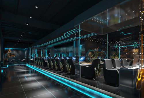 [网咖设计]科幻视觉 未来感―NPC电竞馆