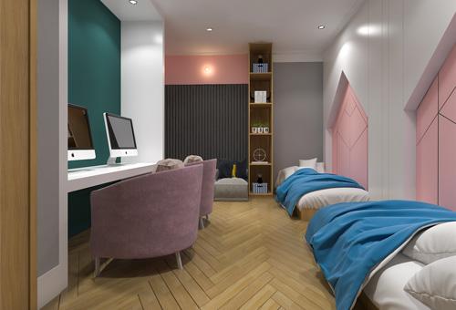 电竞酒店设计案例:小清新 不一样的美